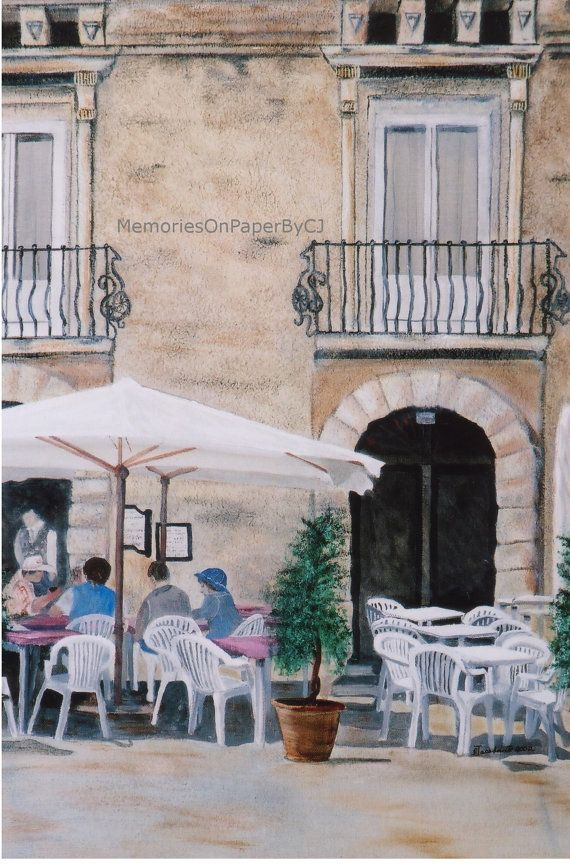 Coffee Lunch Outdoor Cafe Italy European By Memoriesonpaperbycj