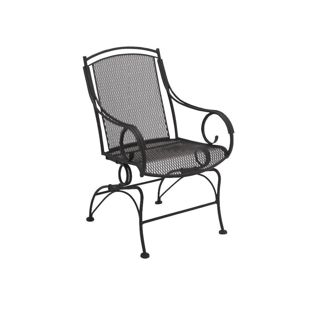 Woodard Briarwood Wrought Iron Coil Spring Barrel Chair Barrel