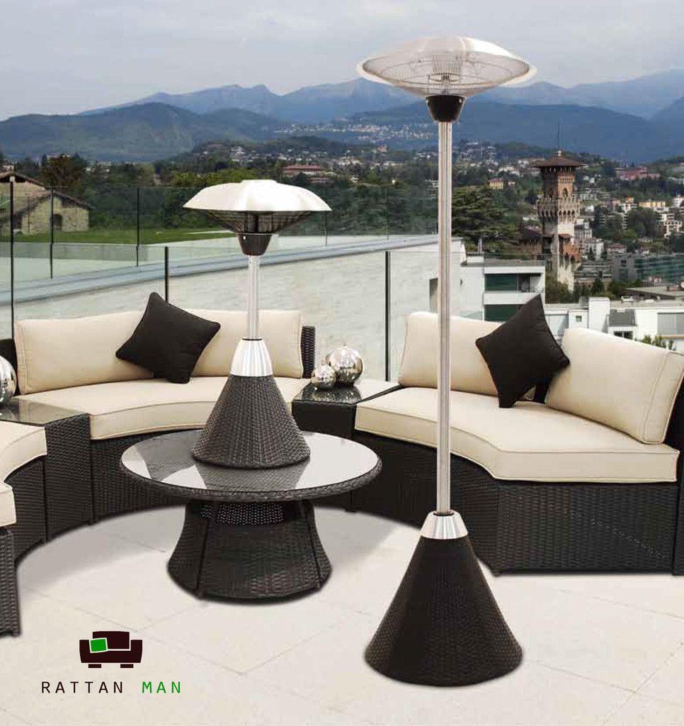 Table Top Electric Heater Rattan garden furniture