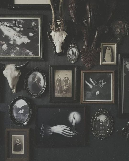 Inspired Spaces Gallery Wall Wall Collage Goth Home Decor Gothic Home Decor Witchy Decor