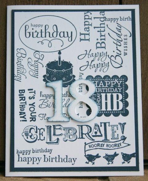 Stampin Up Collage Happy Birthday Handmade Card Paper Into Love 18th Birthday Cards Birthday Cards 21st Birthday Cards