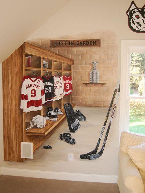 Hockey Lockers Design Pictures Remodel Decor And Ideas Page 4 Kids Room Murals Locker Designs Boys Hockey Room