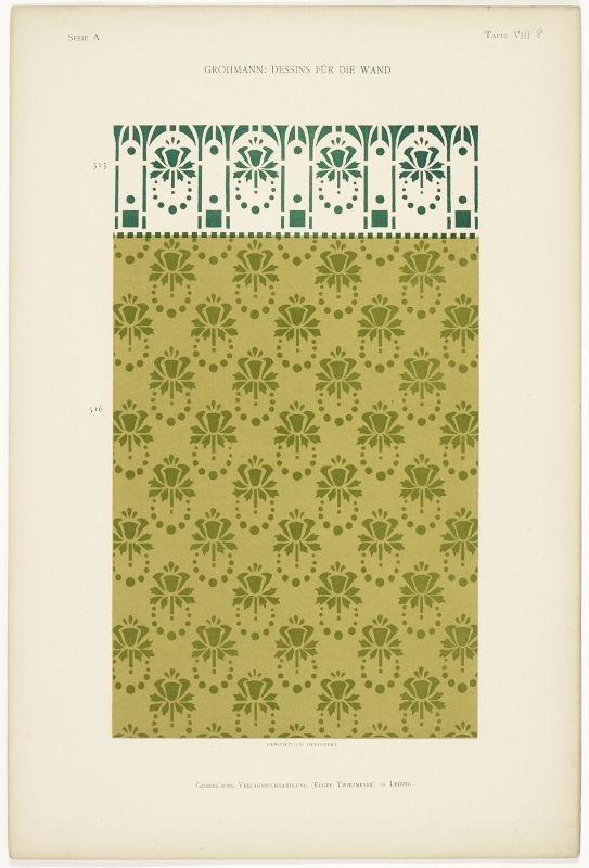 Dessins Fur Die Wand Design Art Nouveau Art Nouveau Pendant