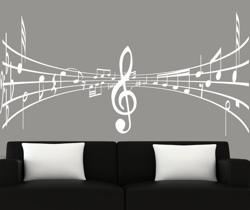 Image result for white music decals