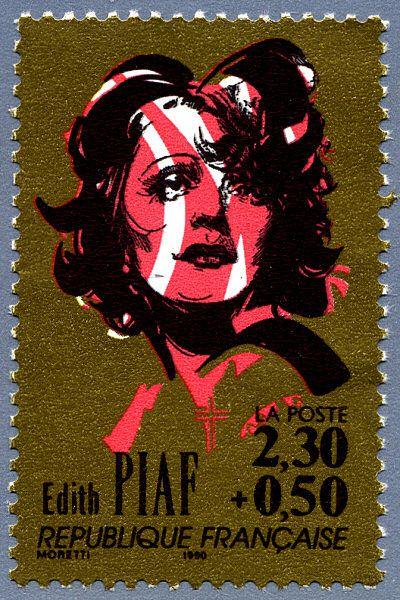 Zoom sur le timbre «Edith Piaf La chanson française»
