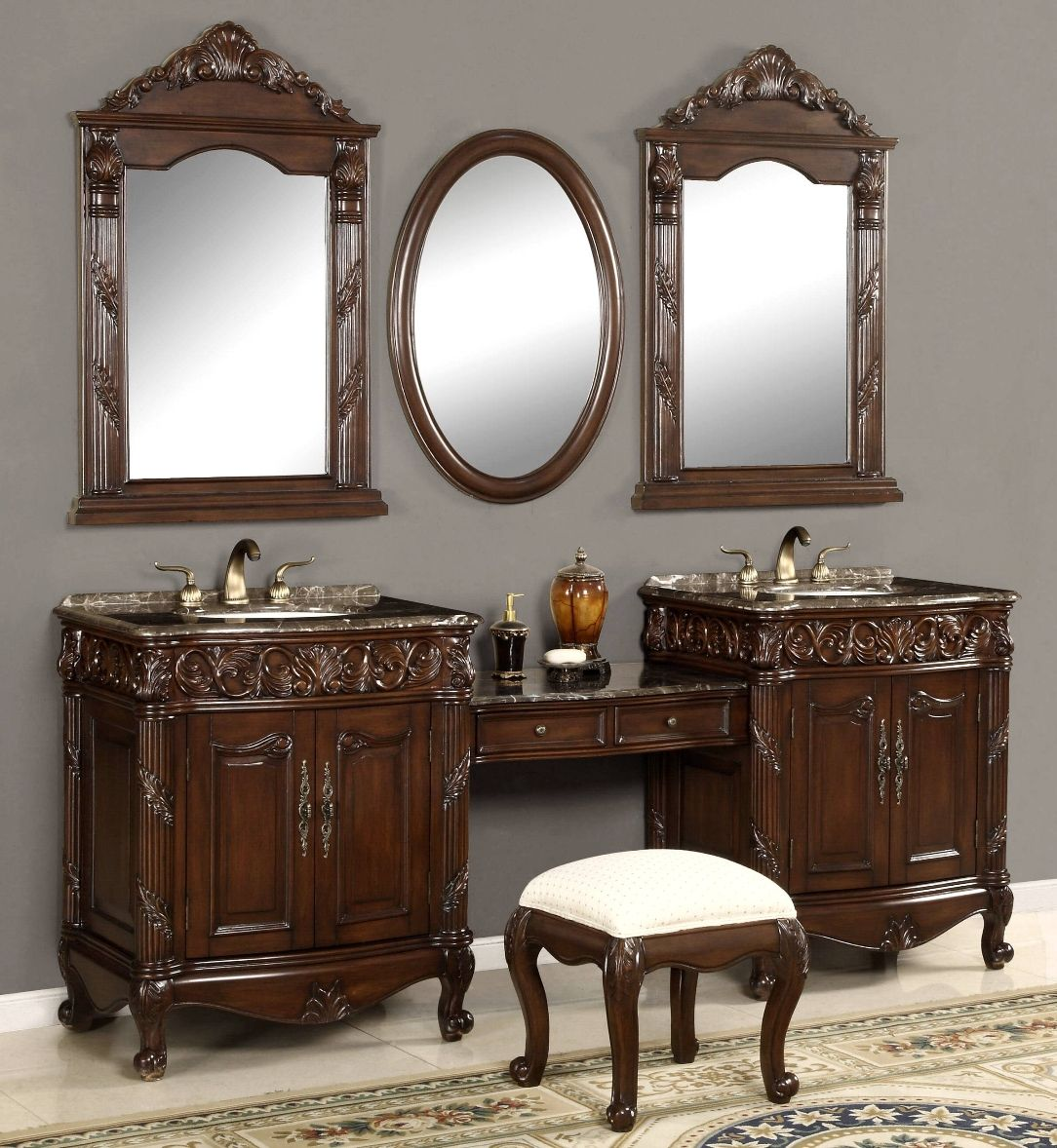 Bathroom Makeup Vanities unique double vanity sink | 87-inch double vanities | vanity make