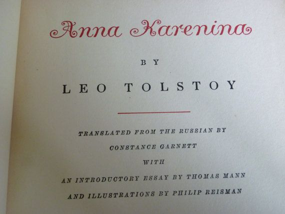 Anna Karenina Vol 1 2 Leo Tolstoy 1939 Books Leo Tolstoy