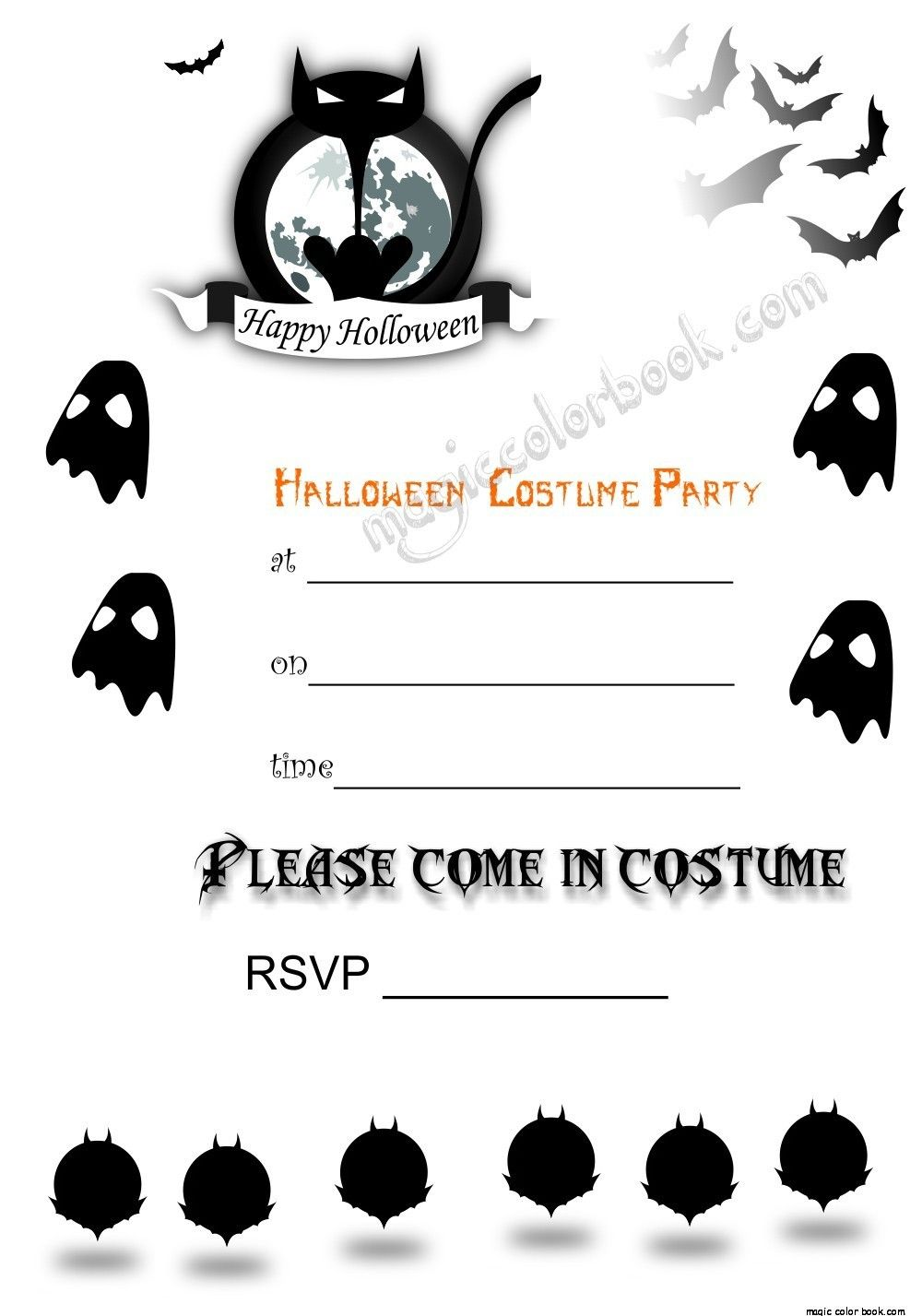 Pin by Magic Color Book on Halloween | Pinterest | Printable ...