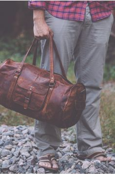 36dd006e4d Men s Rugged Vintage Leather Duffel Gym Bag by Buffalo Jackson Trading Co  Have you checked out the cute duffel bags