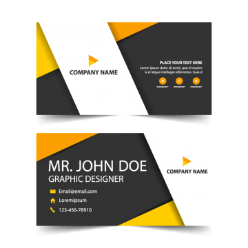 Orange Corporate Business Card Header Template Free Business Card Design Vector Business Card Name Card Design