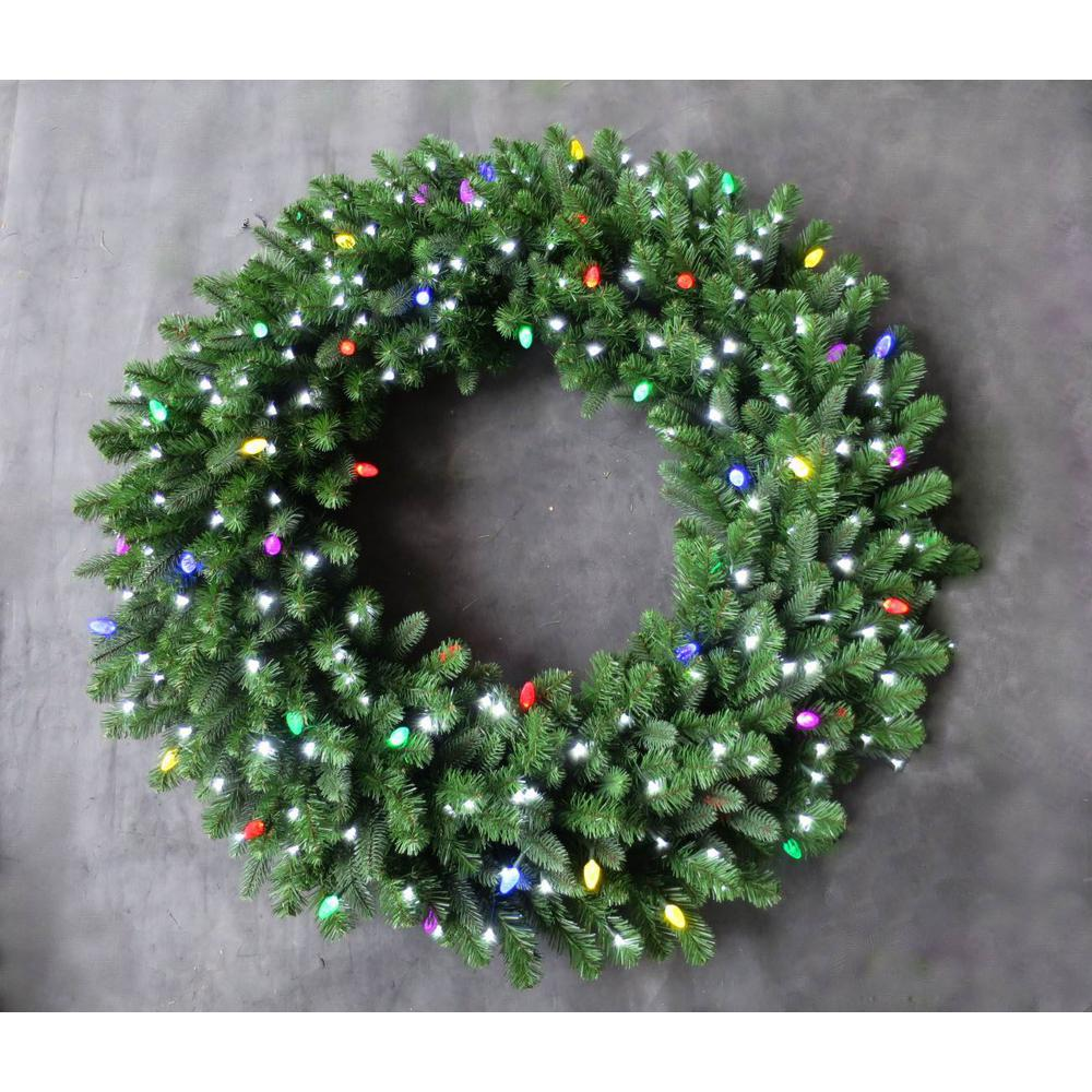 Prelit Christmas Wreath.Home Accents Holiday 48 In Led Pre Lit Artificial Christmas Wreath