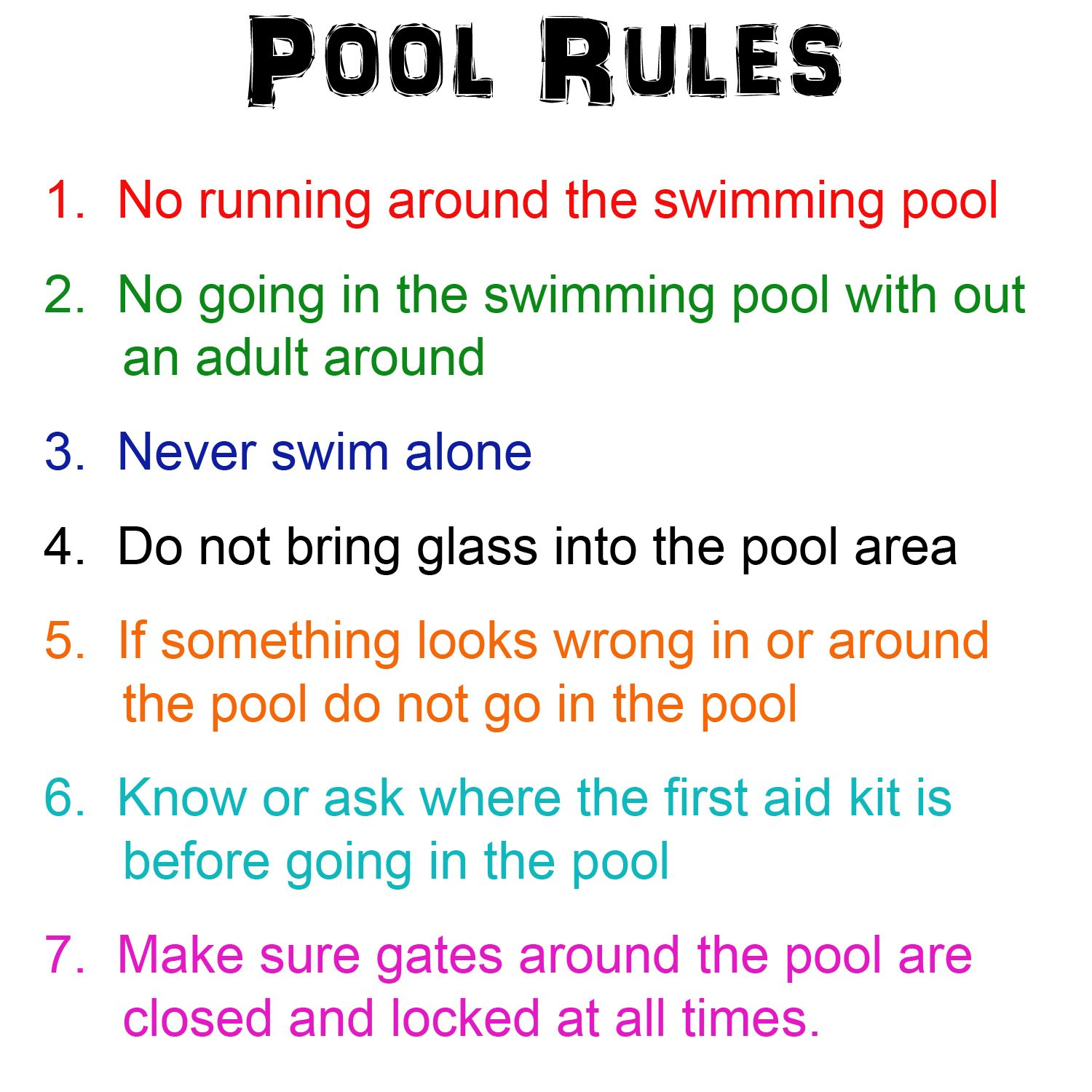 Pool rules may is national water safety month so here are for Pool design rules
