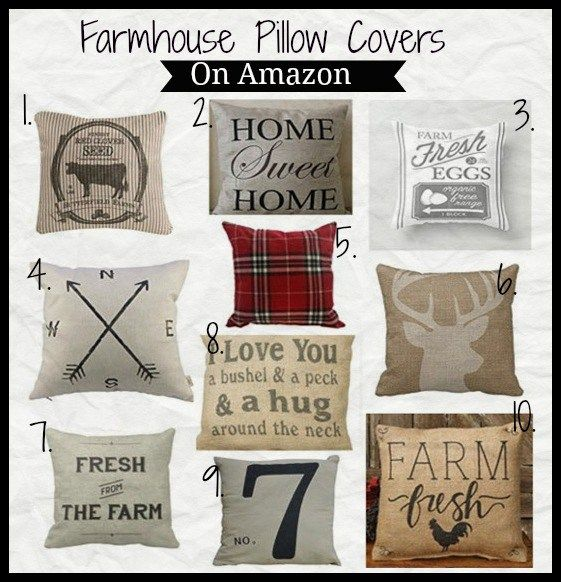Inexpensive Farmhouse Pillow Covers On Amazon. Great Way To Easily Update Home  Decor.