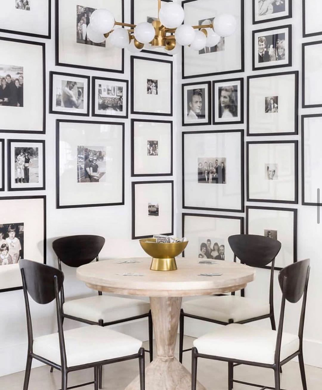 "Atiyeh Adeli on Instagram: ""Black and White Obsession!▪️◽️◼️▫️▪️ . . . . . #art #interior #interiordesign #diningtable #architecture #instadecor #diningroomdecor…"""