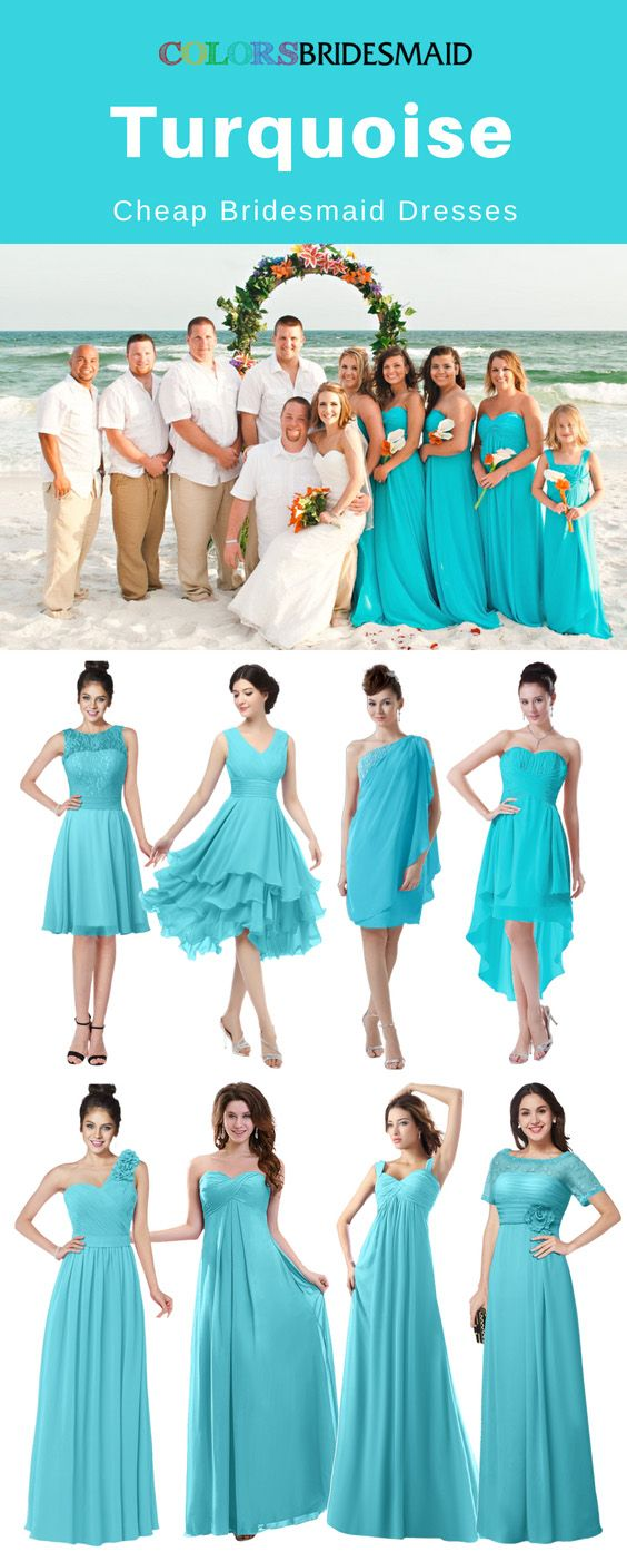 Cheap Turquoise Bridesmaid Dresses Under 100 That Look Beautiful ...