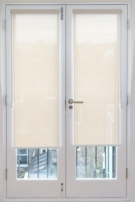 Sunscreen Roller Blinds Fitted To French Doors Made To Measure Made In Uk In 2020 French Door Window Treatments Patio Door Blinds Blinds For French Doors