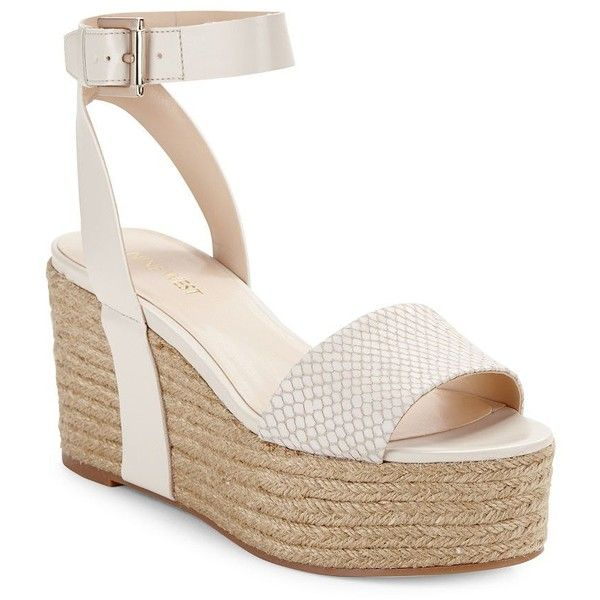 53d1bb44accc Nine West Edoile Leather Espadrille Sandals ( 89) ❤ liked on Polyvore  featuring shoes