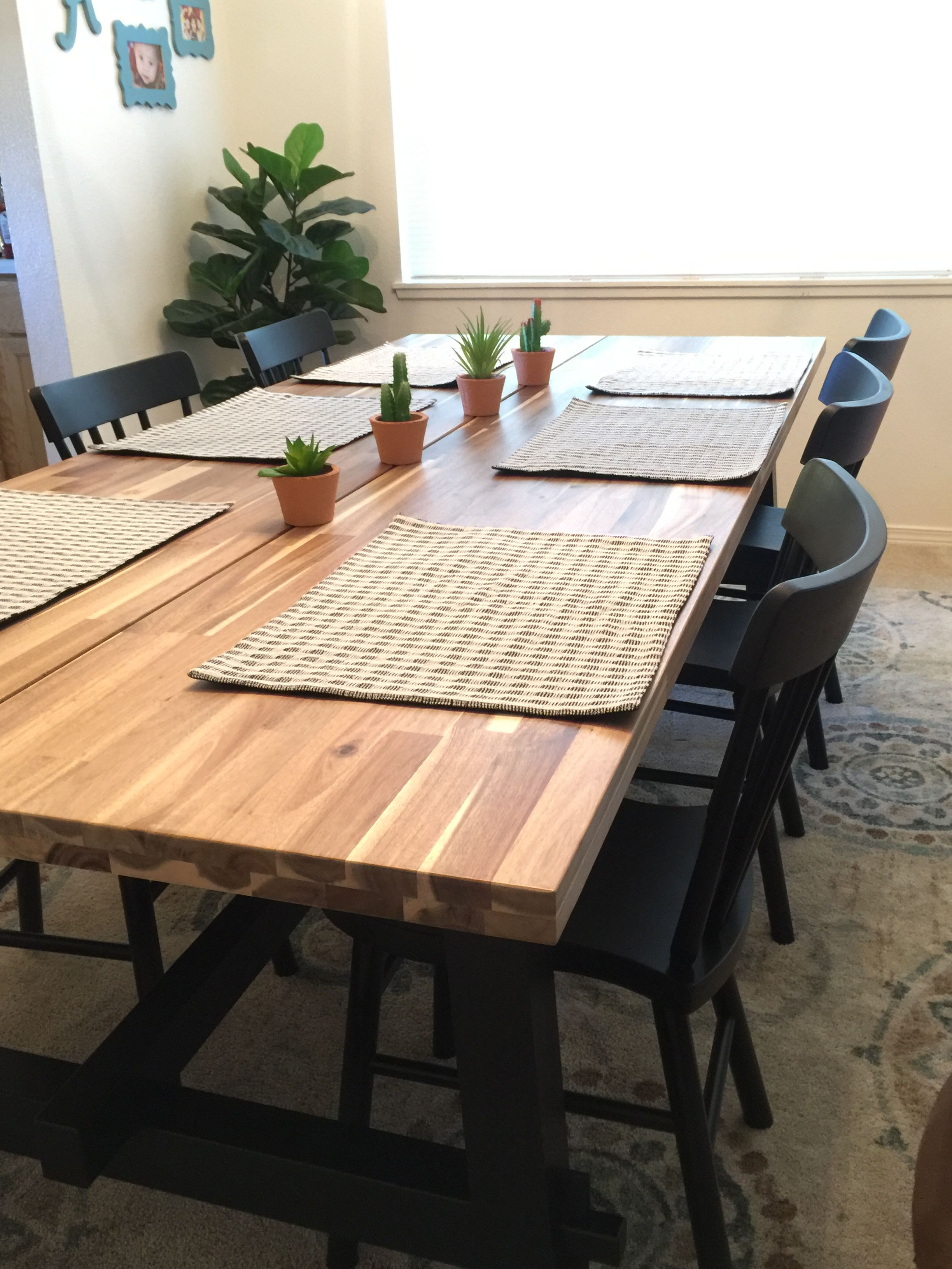 Ikea Skogsta Table Dining Dining Room Table Family Dining Table