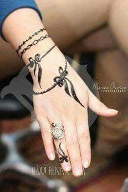 Hand Mehndi Designs Tattoo Style