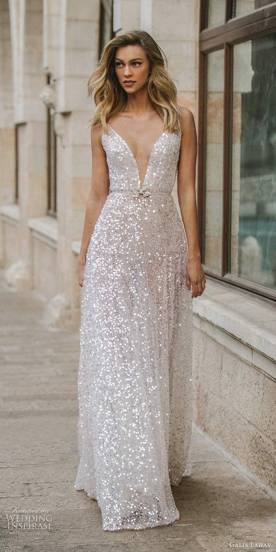 Galia Lahav S Gala Collection No Ix Wedding Dresses The Street Vibe Shoot Wedding Inspirasi In 2020 Sparkly Wedding Dress Elegant Wedding Dress Sparkly Wedding