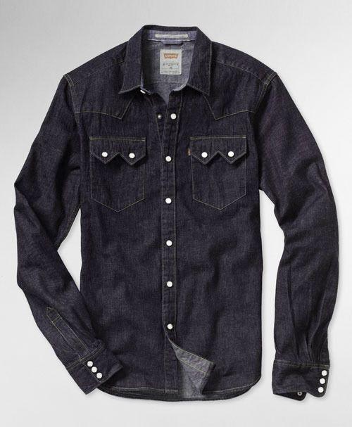 f97237c11e5 Levi s Sawtooth Western Shirt - Dark Stonewash
