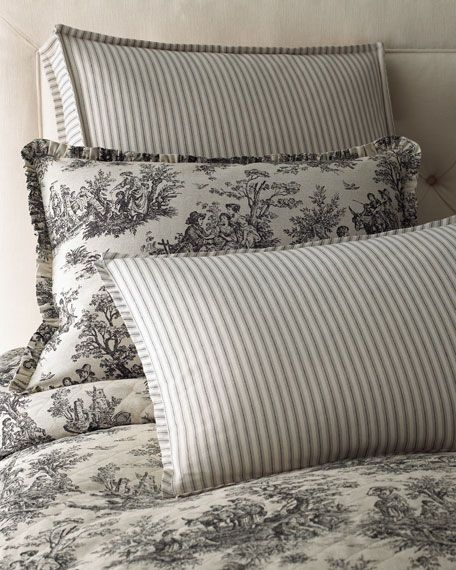 Legacy Sydney Bedding Toile Pillows Pillows French Country Bedrooms