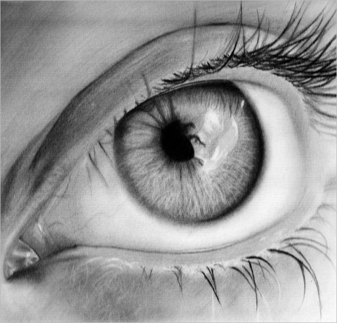 If you are still a learner in pencil drawing but human eye drawings really fascinate you then this template of shallow eye pencil drawing will be