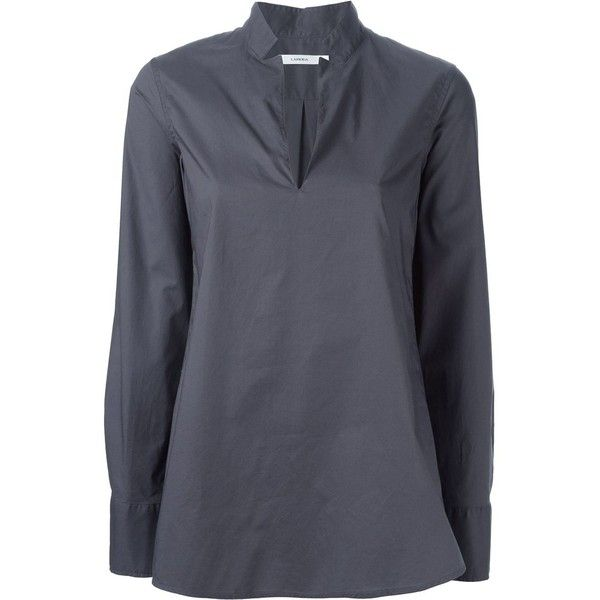 Lareida Longsleeved Blouse (325 CAD) ❤ liked on Polyvore featuring tops, blouses, grey, gray blouse, grey blouse, long sleeve blouse, grey top and long sleeve tops