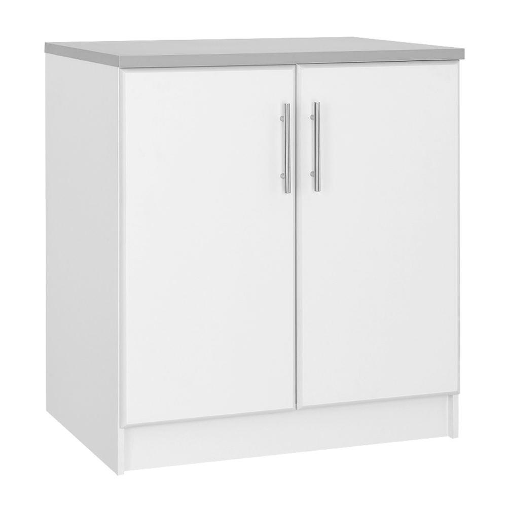 36 In H 2 Door Base Cabinet In White Base Cabinets Pantry Storage Cabinet Tall Cabinet Storage