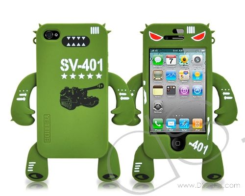 Robot Series iPhone 4 Silicone Case - Tank  http://www.dsstyles.com/iphone-4-cases/robot-series-iphone-4-silicone-case-tank.html