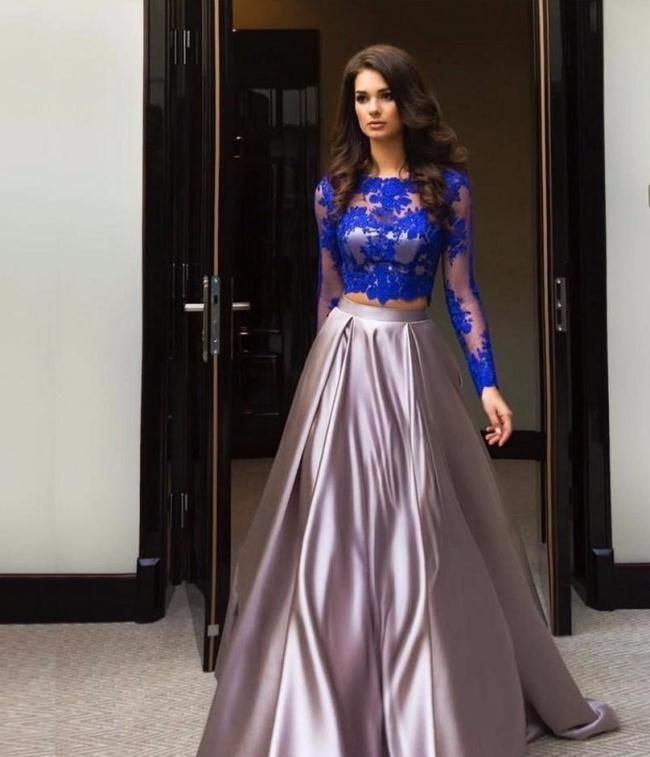 Current Fall Season Prom Dresses 2017 Long Style For Family Parties ...
