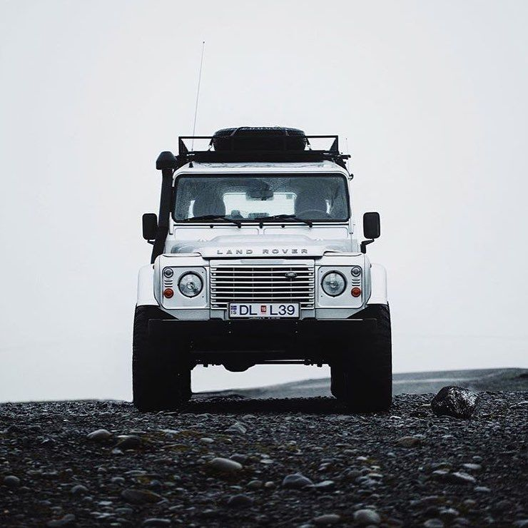 Iceland And A Beutiful Travel Vehicle.