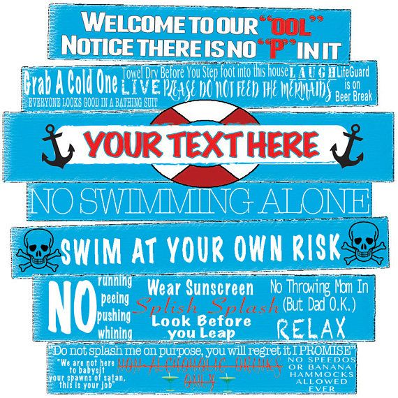 Swimming Pool Decor Pool Signs Outdoor Signs Funny Pool Pool Rules Sign Pool Signs Pool Rules