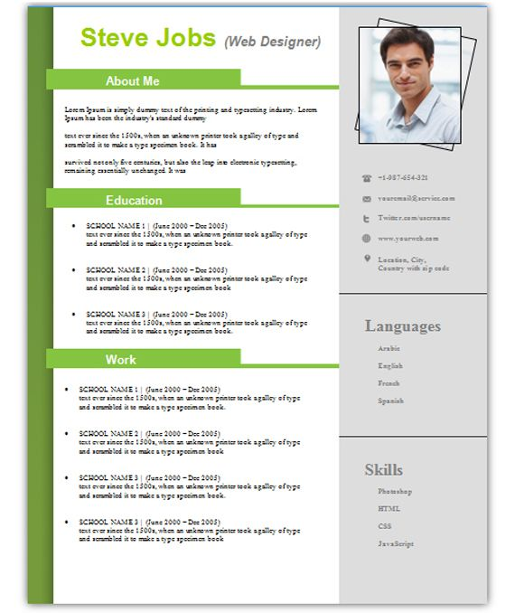 3 Free Simple Easy To Edit Resume Templates For Word