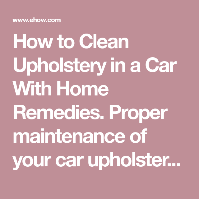 how to clean upholstery couch