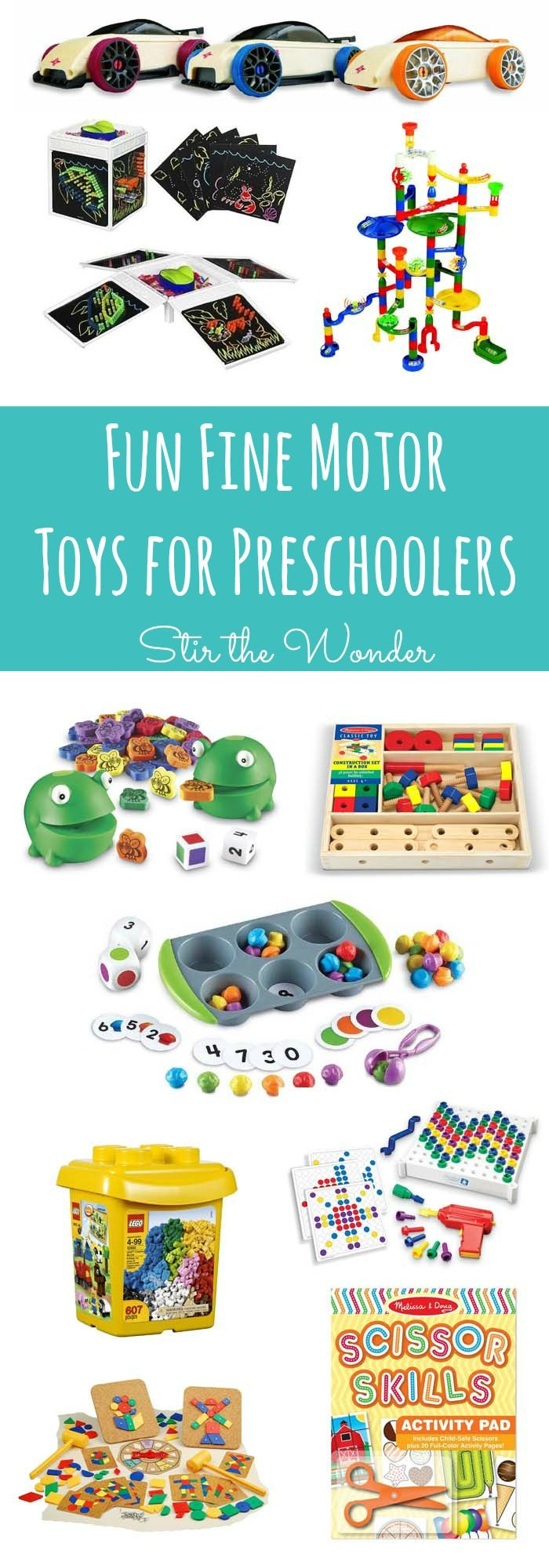 Fun Fine Motor Toys for Preschoolers | Stir the Wonder