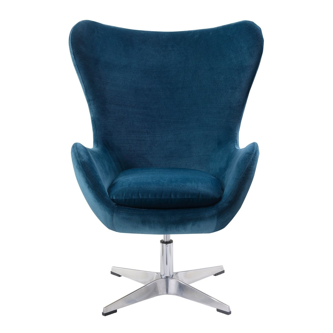 Best Emerald Home Acme Midnight Blue Swivel Accent Chair U3268 400 x 300