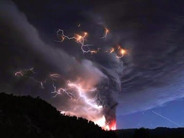 RChile Volcano Plume Explodes With Lightning