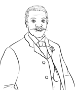 George Crum Coloring Page Coloring Pages Famous African Americans Color