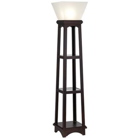 Monaco Espresso 3 Shelf Etagere Torchiere Floor Lamp Http://www.lampsplus