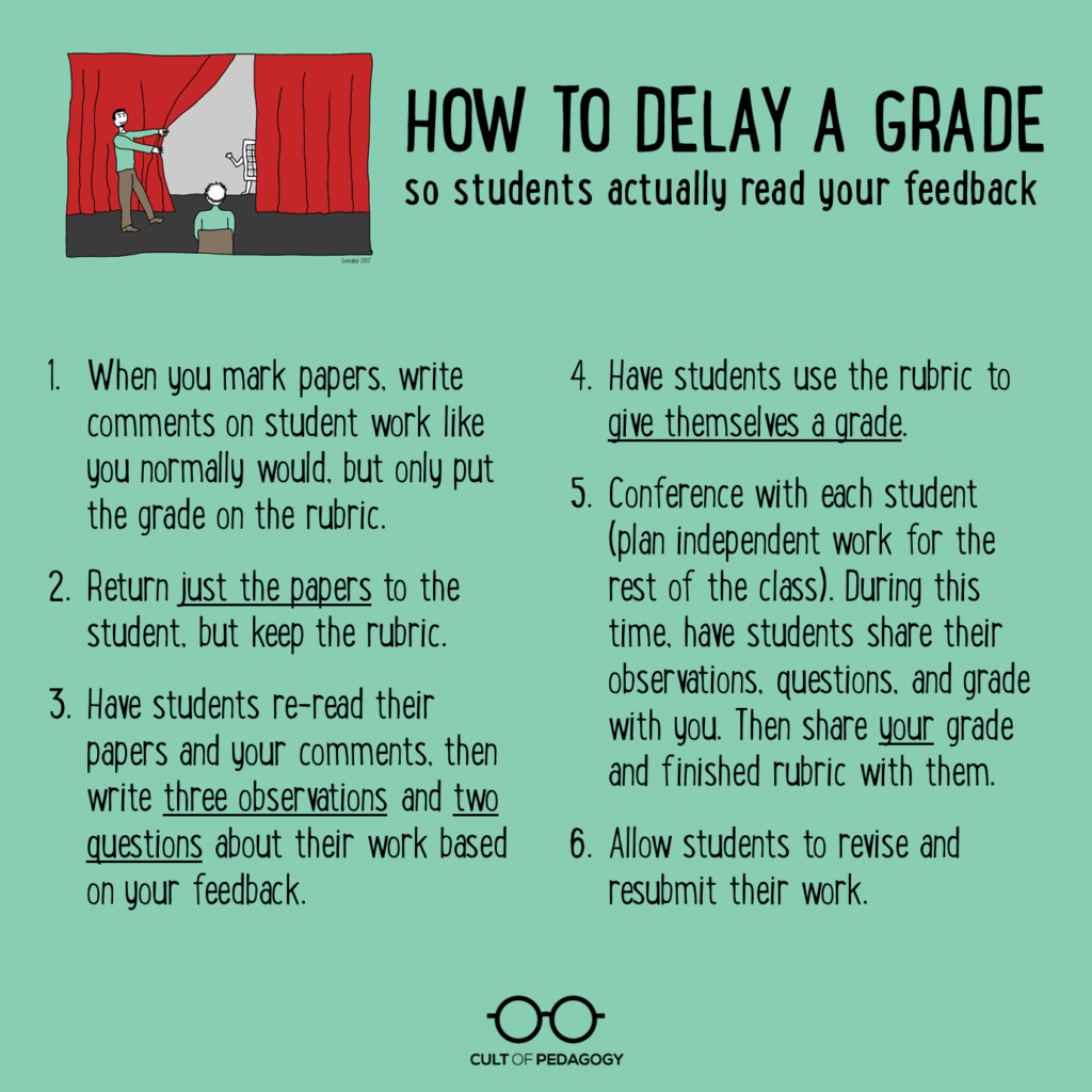 Delaying The Grade How To Get Students To Read Feedback