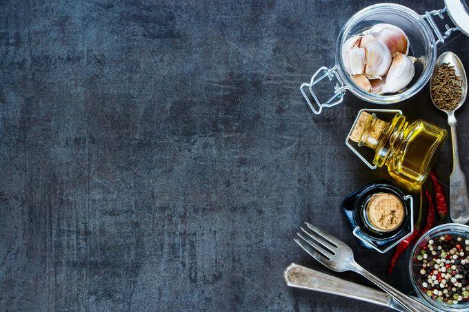 Cooking Ingredients Background Dengan Gambar Fotografi Makanan