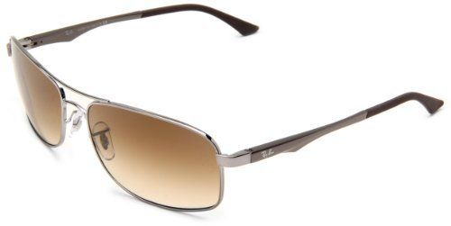 83ab88228f Ray-Ban Mens 0RB3484 0RB3484 Rectangle Sunglasses