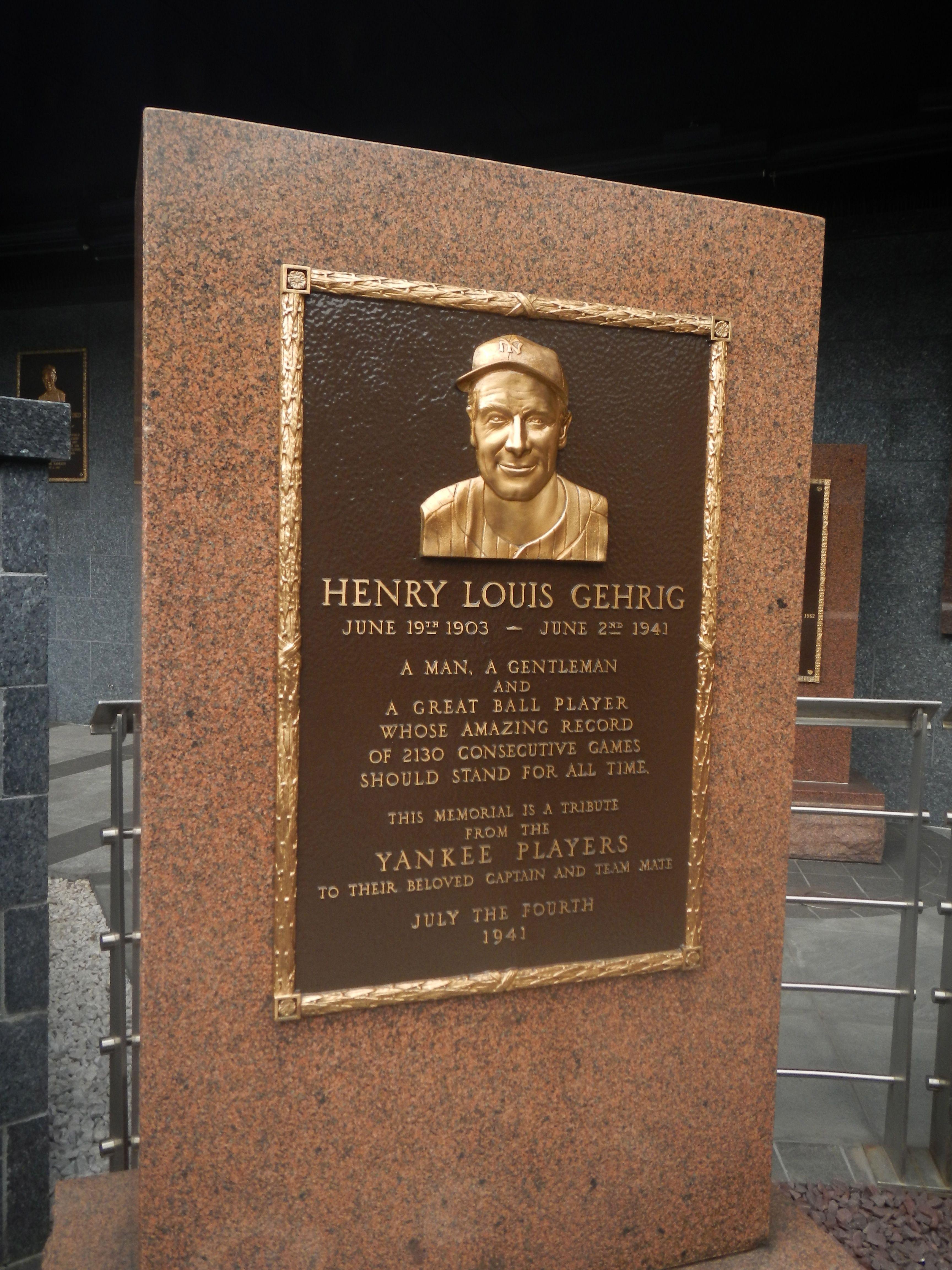 Louis Gehrig New York Yankee New York Yankees Yankees Yankees Baseball