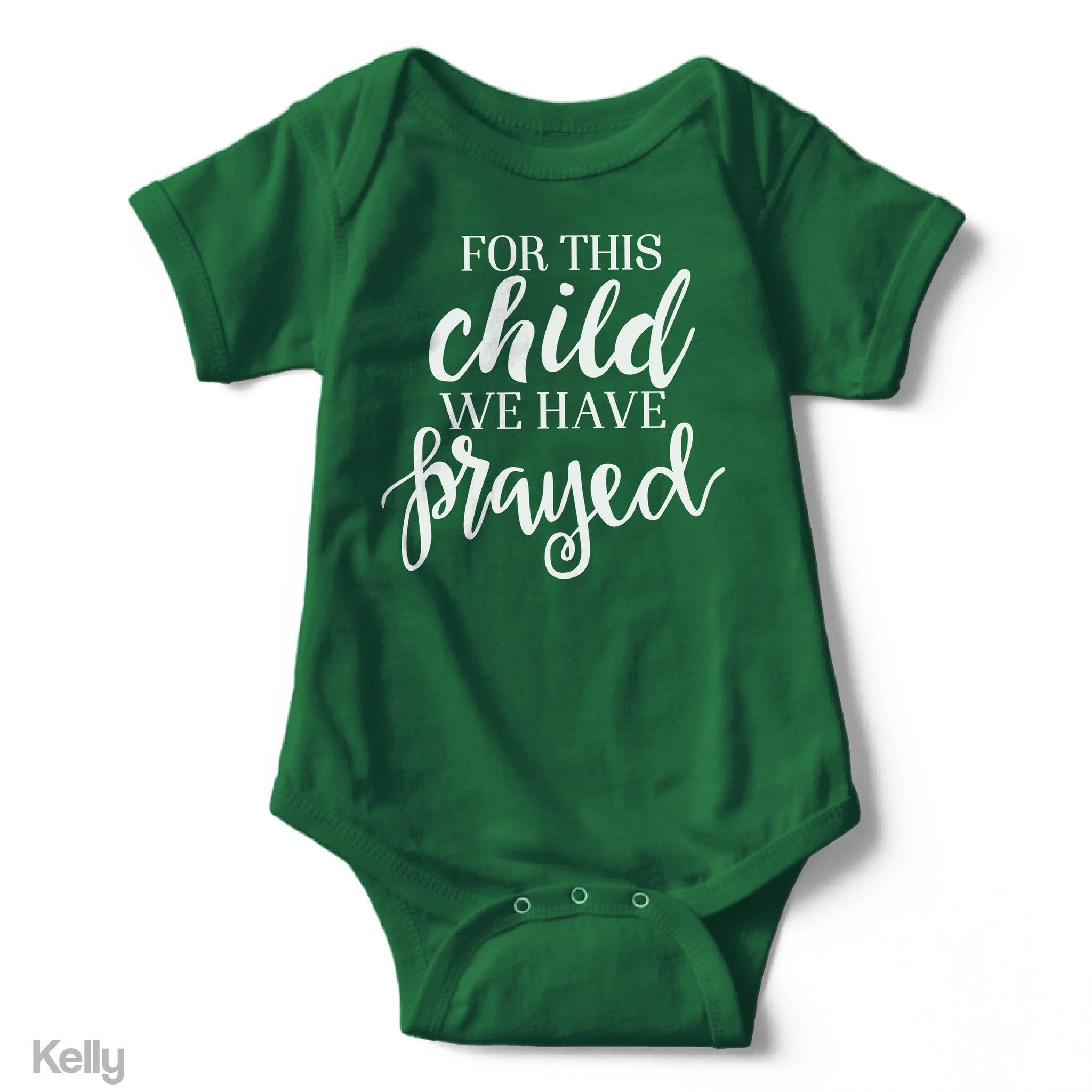For This Child We Have Prayed - Short Sleeve Infant Creeper