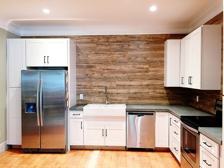 Wood Flooring Backsplash Anyone This Project Is Easier Than Tile Cost Effective And Adds A Great Look To Any Kitchen