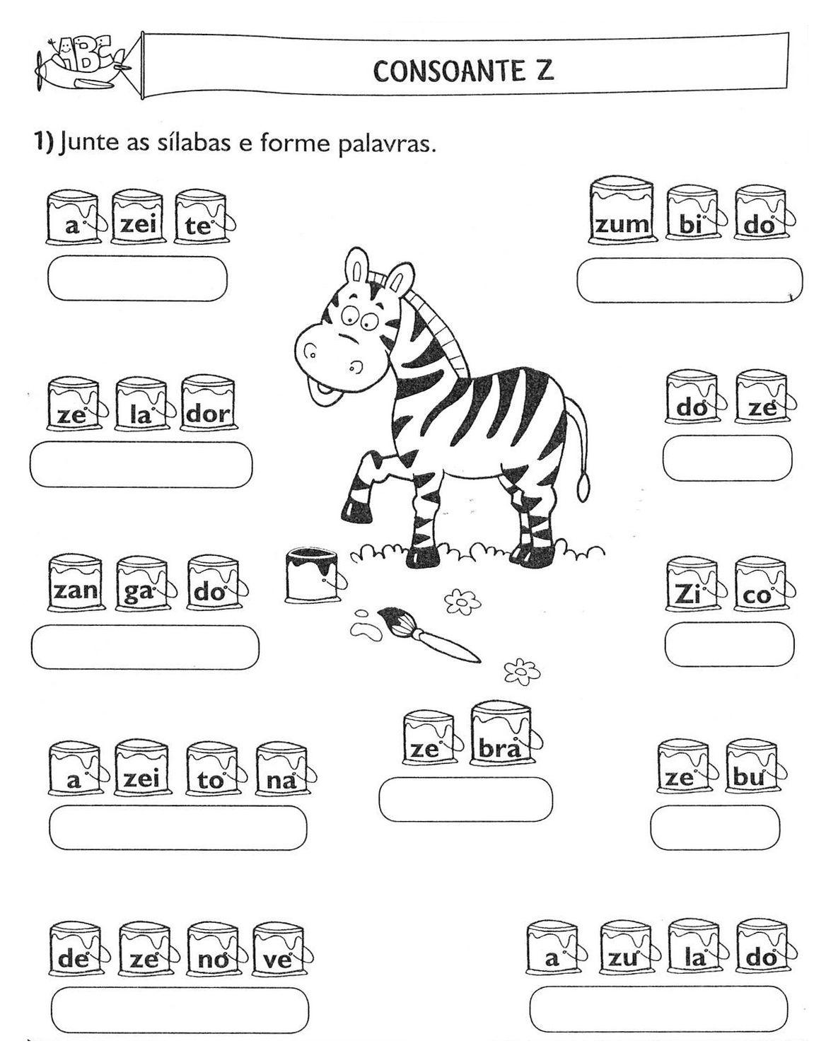 Atividades Juntando Silabas Alfabetizacao 3