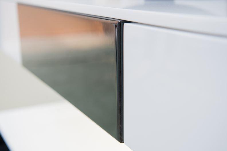 SALLE DE BAIN, MEUBLE VASQUE ALESIA - Zoom sur les finitions Meuble - salle de bain meuble noir