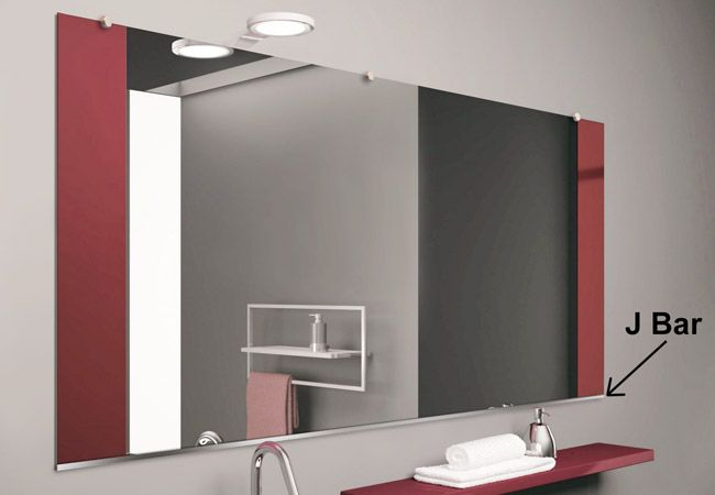 J Bar Mirrors Frameless Mirror Mirror Beveled Mirror
