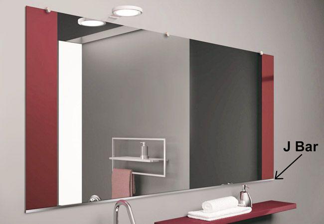 J Bar Mirror Installation Frameless Mirror Mirror